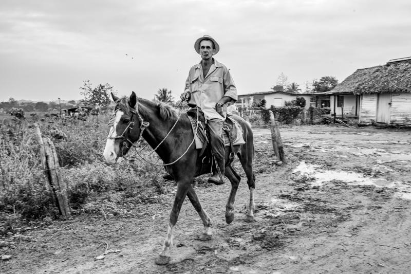 man on horseback Vinales Cuba