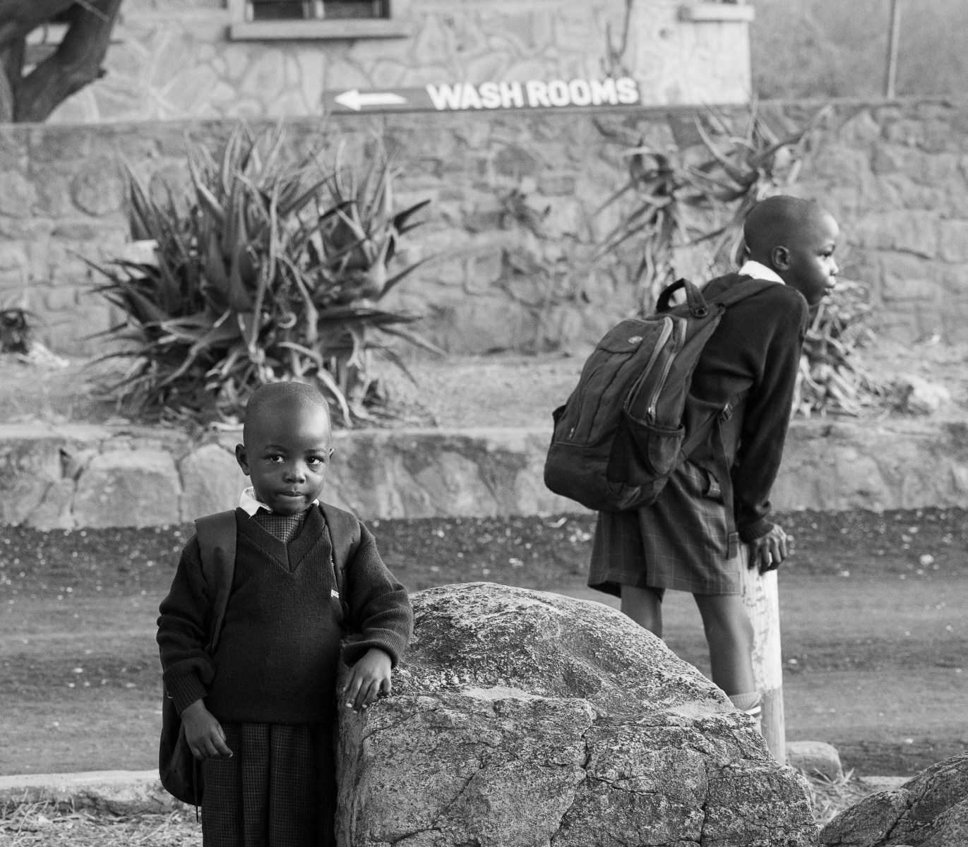 school-boys-Tsavo-East-bw