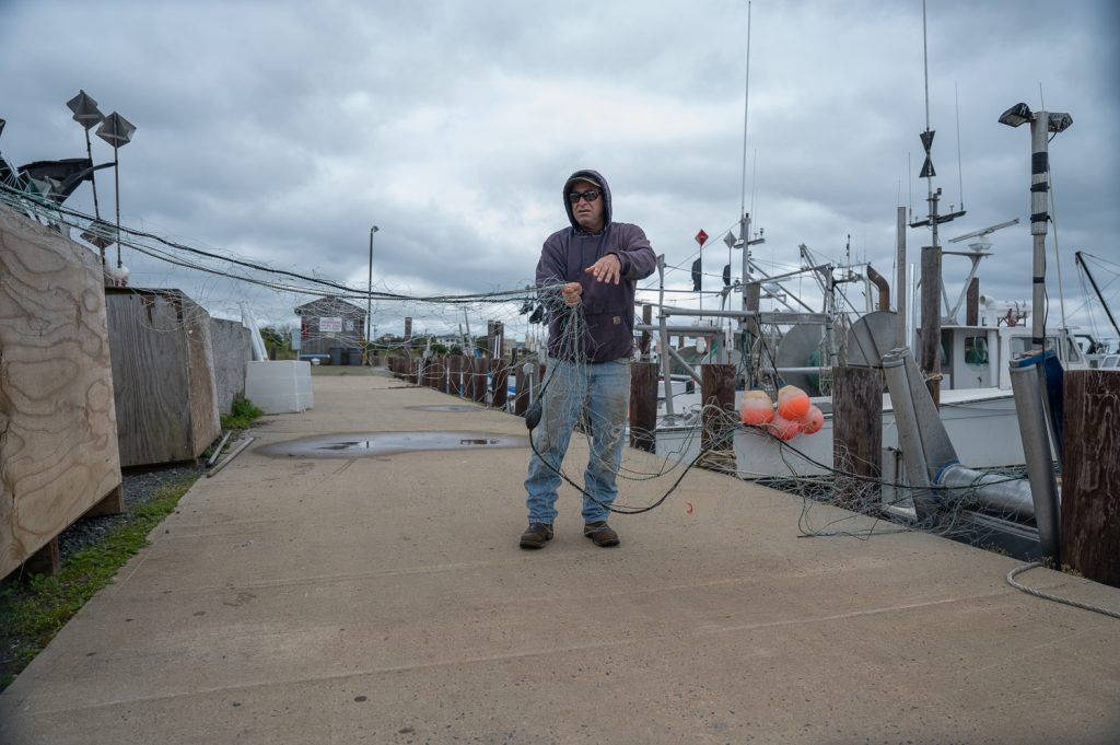 Fisherman and net