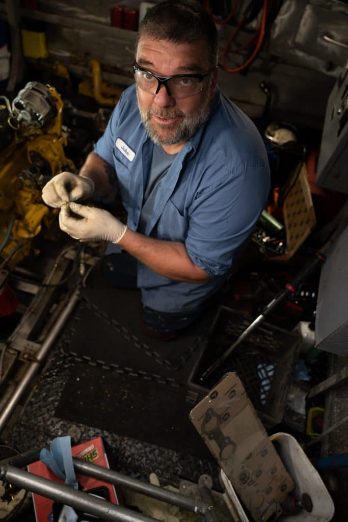 Mechanic on boat