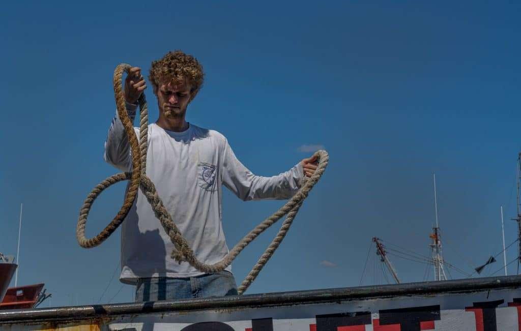 tying up boat